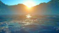 Sunset / sunrise over ocean video