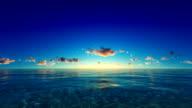 Sunset / sunrise over tropical ocean video