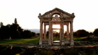 HD: Sunset Tetrapylon of Aphrodisias video