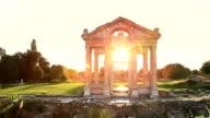 HD: Sunset Tetrapylon of Aphrodisias video