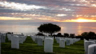 Sunset Time Lapse at Fort Rosecrans National Cemetery video