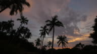 sunset time lapse - at koh tao island video