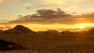 Sunset time lapse in Wadi Rum video