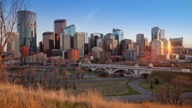 Sunset time lapse of Calgary, Alberta video