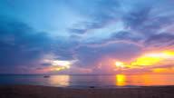 Sunset Timelapse at Andaman sea Phang Nga Thailand video