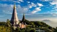 Sunset timelapse at Doi Inthanon, Chiang mai, Thailand, 4K Time lapse video