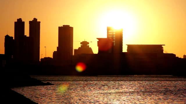 sunset timelapse in bahrain video
