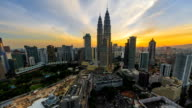 Sunset Time-lapse view over looking Kuala Lumpur city skyline video