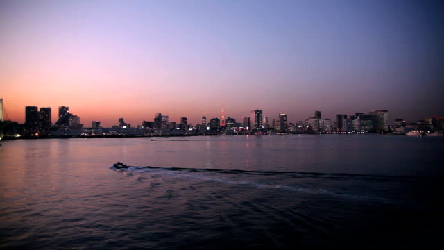 Sunset view of Tokyo video