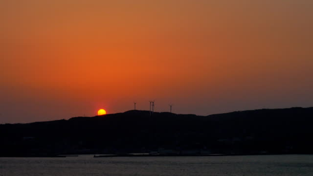 sunset view with sea video