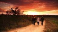 Sunset walk video
