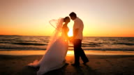 Sunset Wedding Kiss video
