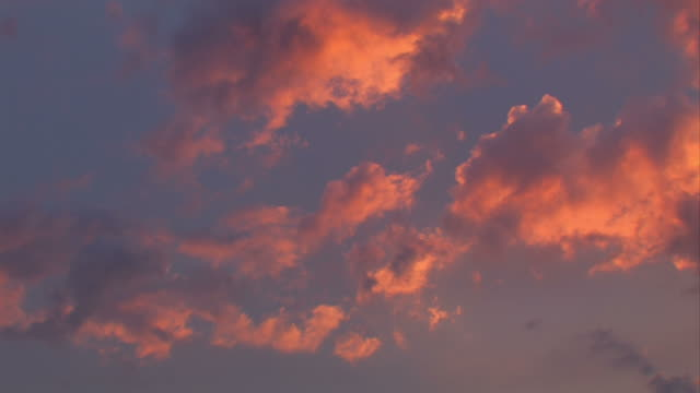 Sunset with clouds video