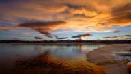 Sunset-To-Dusk at Spring Mountain Lake video