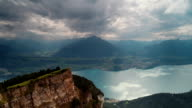 Sunshine Over Lake Thun in Central Switzerland video