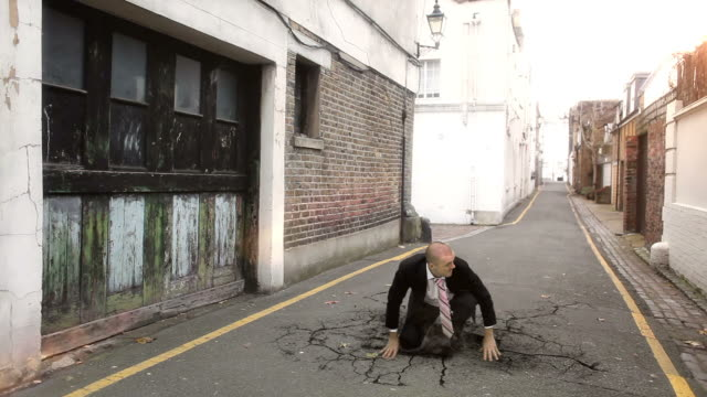Super human businessman video