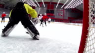 HD: Super Slo-Mo Shot of Ice Hockey Team Scoring video