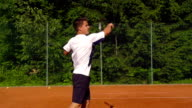 HD: Super Slo-Mo Shot of Young Man Playing Forehand video