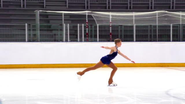 HD: Super Slo-Mo Shot of Young Women Skating video