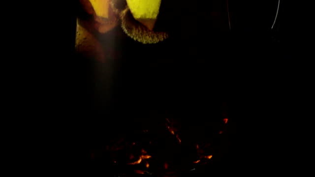 Super slow motion a carafe of sangria drink video
