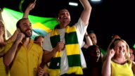 Super Slow Motion, Brazil Sports fans, Supporters, Crowd Jumping video