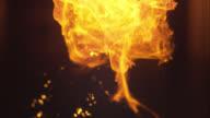 Super slow motion burst of flame video