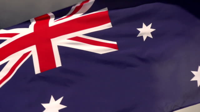 Super Slow Motion HD - Australia flag close up video