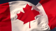 Super Slow Motion HD - Canada flag close up video
