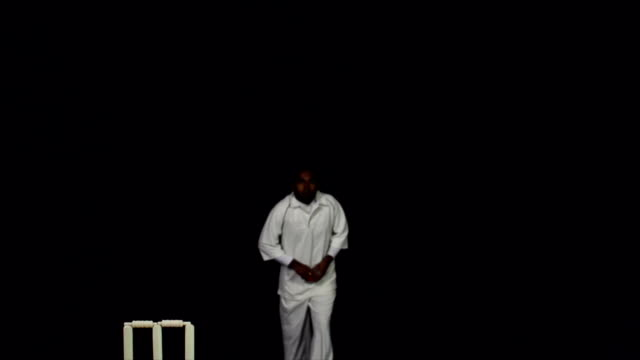Super Slow Motion HD - Cricket Bowler bowling with ball video