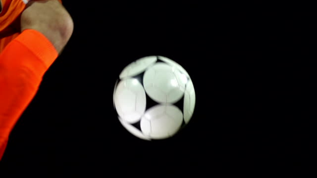 Super Slow motion HD - Football / Soccer ball Volley video