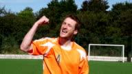 Super Slow Motion HD - Soccer Player celebrate scoring goal video