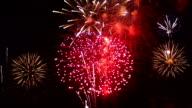 Super Slow Motion - Huge firework display video