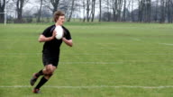 Super Slow Motion,  Rugby players passing the ball in Match video