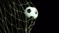 Super Slow Motion, Soccer ball scoring goal (Football net) video