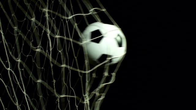 Super Slow Motion, Soccer ball scoring goal (Football net) video