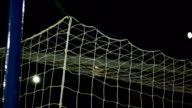 Super Slow Motion, Soccer / Football Goal in top cormer video