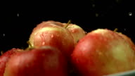 HD Super Slow-Mo: Apples With Water Drops video