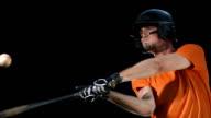 HD Super Slow-Mo: Baseball Batter Hitting Ball video