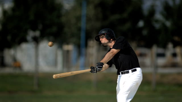 HD Super Slow-Mo: Baseball Batter Hitting Ball video