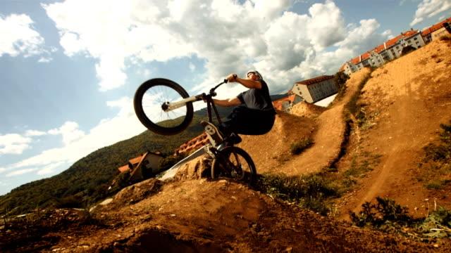 HD Super Slow-Mo: Bmx Dirt Backflip Trick video