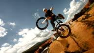 HD Super Slow-Mo: Bmx Dirt Rider Performing Unturndown Trick video