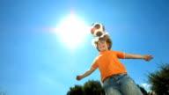 HD Super Slow-Mo: Boy Heading The Ball video