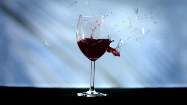 HD Super Slow-Mo: Bullet Breaking A Wine Glass video