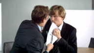 HD Super Slow-Mo: Businessmen Fighting For New Business video