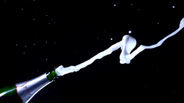 HD Super Slow-Mo: Champagne Explosion video