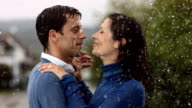 HD Super Slow-Mo: Couple Dancing In The Rain video