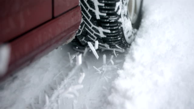 HD Super Slow-Mo: Driving In The Snow video