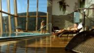 HD Super Slow-Mo: Enjoying Luxury Pool Villa video