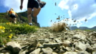 HD Super Slow-Mo: Extreme Runner Kicking The Sand video