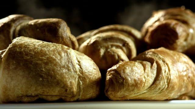 HD Super Slow-Mo: Freshly Baked Croissants video